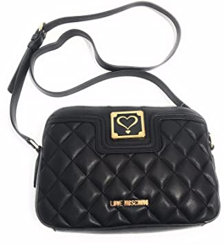 Love Moschino crossbody bag Nappa Pu quilted black  Amazon.it  Valigeria 655b9324711