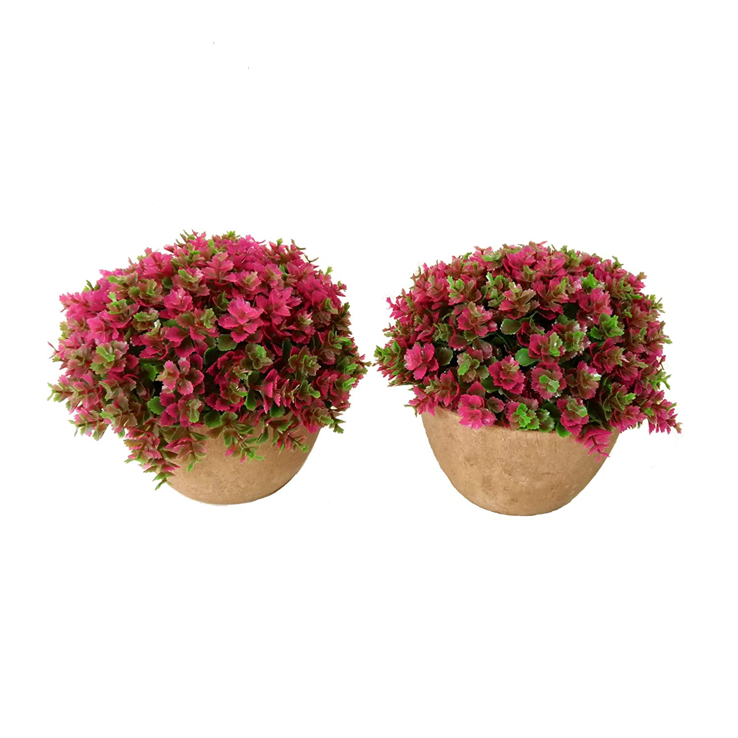 Maikai Products 2-pack Artificial Potted Pink Clover. 5