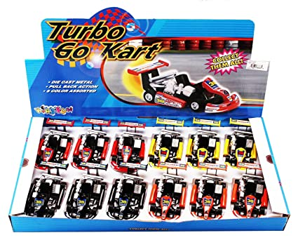 Turbo Go Kart #38 Diecast Car Package - Box of 12 5 inch scale Diecast