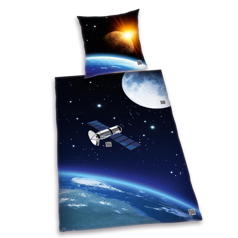 Faszinierend Bettwäsche Cool Referenz Von Herding 445145050 Interaktive Bettwäsche, Qr-code, Motiv Weltall,