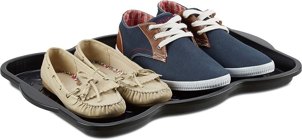botteschaussures 50 pour bac chaussures en égouttoir 4 noir plastique x cmnoir Relaxdays x HxlxP3 38 Plateau égouttoir SzpMUV