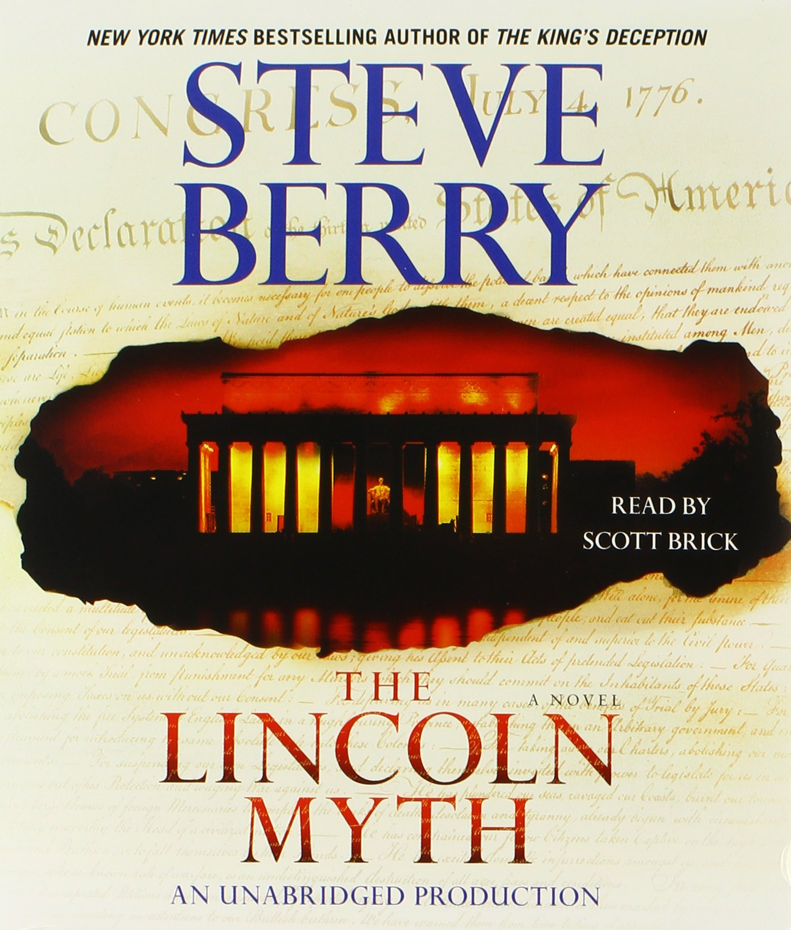 Amazon.com: The Lincoln Myth: A Novel (Cotton Malone) (9780449009062): Steve  Berry, Scott Brick: Books
