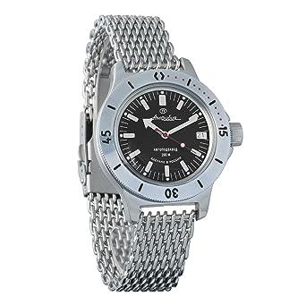 VOSTOK Amphibian Russian Watch WR 200 m Amphibia Diver  120662 (Silver) 2053dfa257