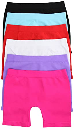 12ad3c0abbf3a ToBeInStyle Pack of 6 Girls' Tights - Short - Solid Color Size: Small