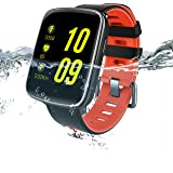 AMOPEX Bluetooth Smart Watch Fitness Tracker Heartrate Monitor,Swimming Waterproof,1 More Watchband and Charging Cable as Extra Bonus,Perfect gift for holidays