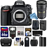 Nikon D750 Digital SLR Camera Body with 24-70mm f/2.8 Lens + 64GB Card + Battery/Charger + Case + Filters + GPS + Flash & DigitalAndMore Free Deluxe Accessory Kit Bundle
