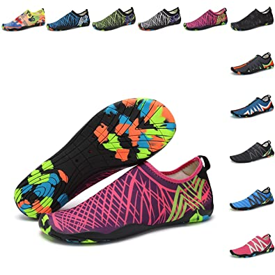 fd93a6be6faf Image Unavailable. Image not available for. Color  PENGCHENG Water Sports  Shoes Men Women Beach Swim Shoes Barefoot Skin Quick-Dry ...