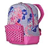 Joules Junior Patch Bag - Pool Blue Posy Stripe (Floral) Accessories Bags