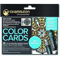 Chameleon Color Cards-Mini Mandalas Boyama Kartları, Mini Mandalalar