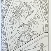 Gothic Dark Fantasy Coloring Book Fantasy Coloring By