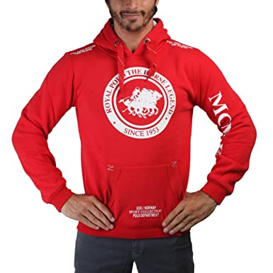 Geographical Norway Sudadera Filgerade Men Contrast (L) Rojo/Blanco
