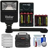 Essentials Bundle for Kodak PixPro AZ251, AZ365, FZ41, FZ43, WP1 with AA Batteries & Charger + Case + Flash & Bracket + Kit