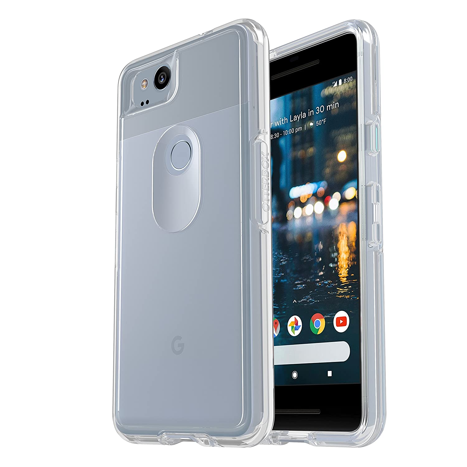 new style dc647 b2aae OtterBox SYMMETRY CLEAR SERIES Case for Google Pixel 2 - Retail Packaging -  CLEAR