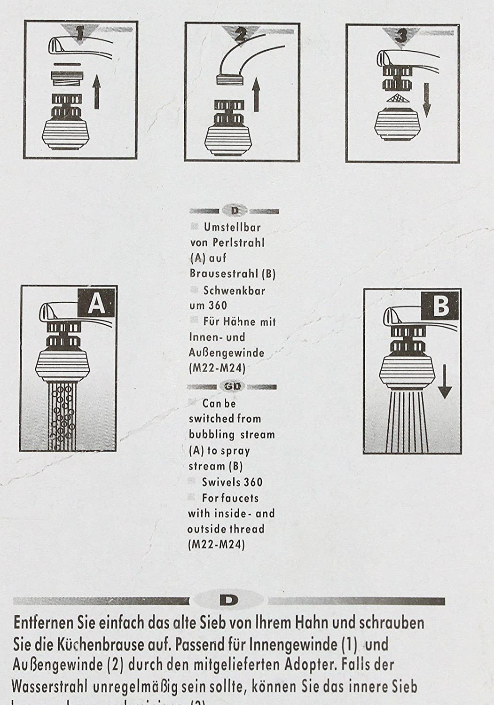 sparer03 Soytich Wassersparer Brausekopf Wasserhahn Sparventil Schwenkbrause