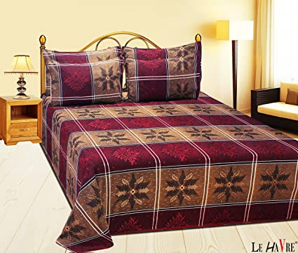 cool bed sheets for summer. Perfect Summer LE HAVRE All Weather Summer Cool Double Bedsheet With 4 Pillow Covers King  Size For Bed Sheets R