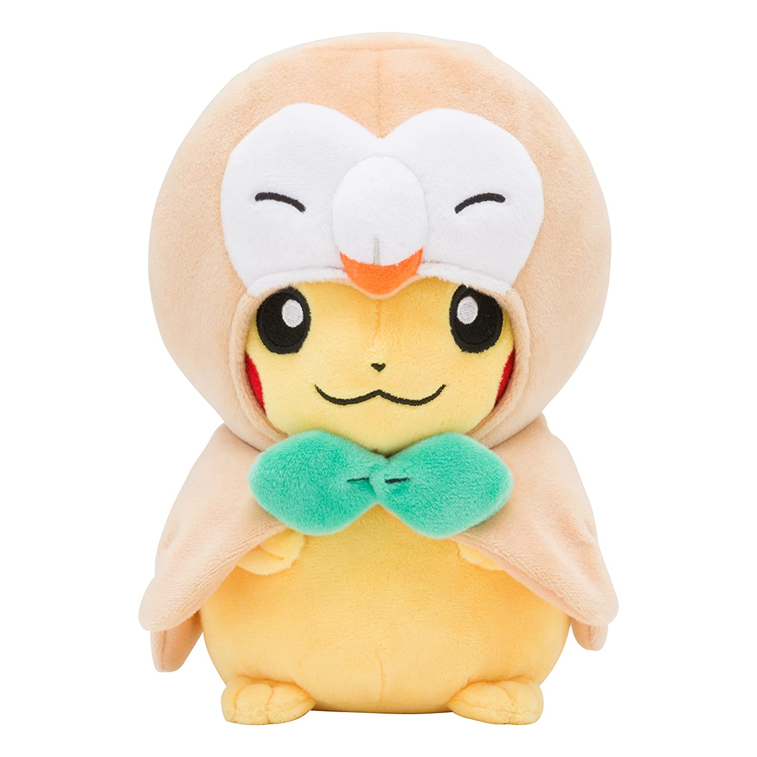 Pokemon Center Original Plush Doll Bauz Rowlet Poncho's Pikachu Plüschtiere