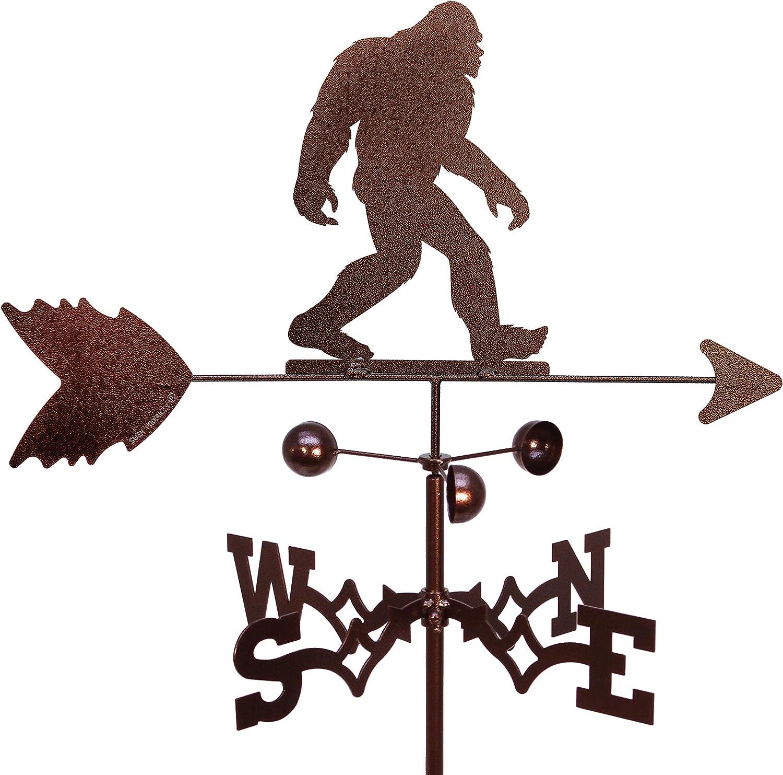 SWEN Products Bigfoot Sasquatch Weathervane (Garden Stake Included)