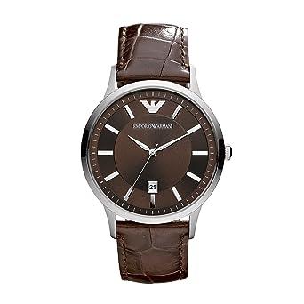 d42f25c2f4c0e Emporio Armani Reloj Analógico para Hombre de Cuarzo con Correa en Cuero  AR2413  Emporio Armani  Amazon.es  Relojes