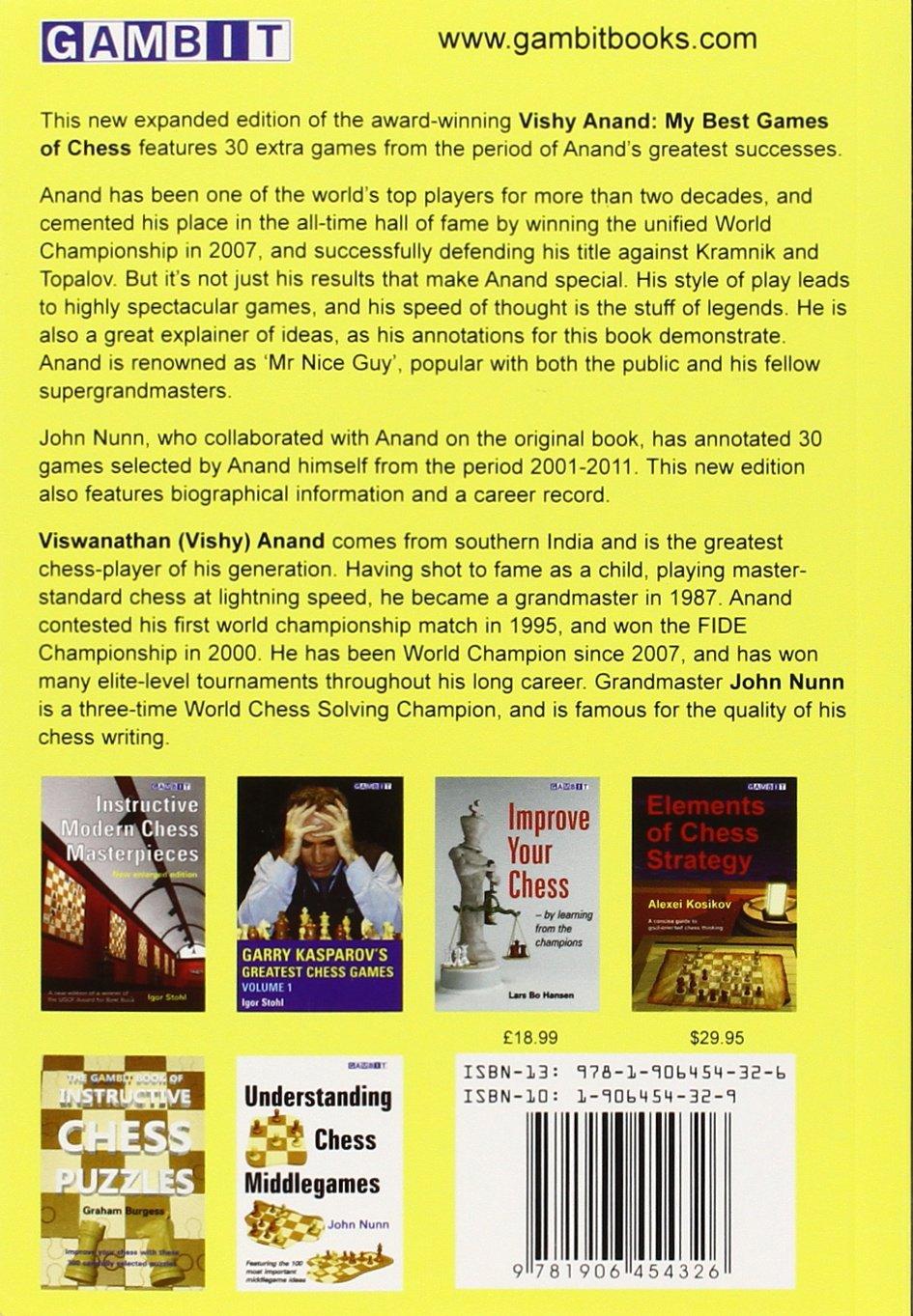 Vishy Anand: World Chess Champion: Amazon.de: Vishy Anand, John Nunn ...