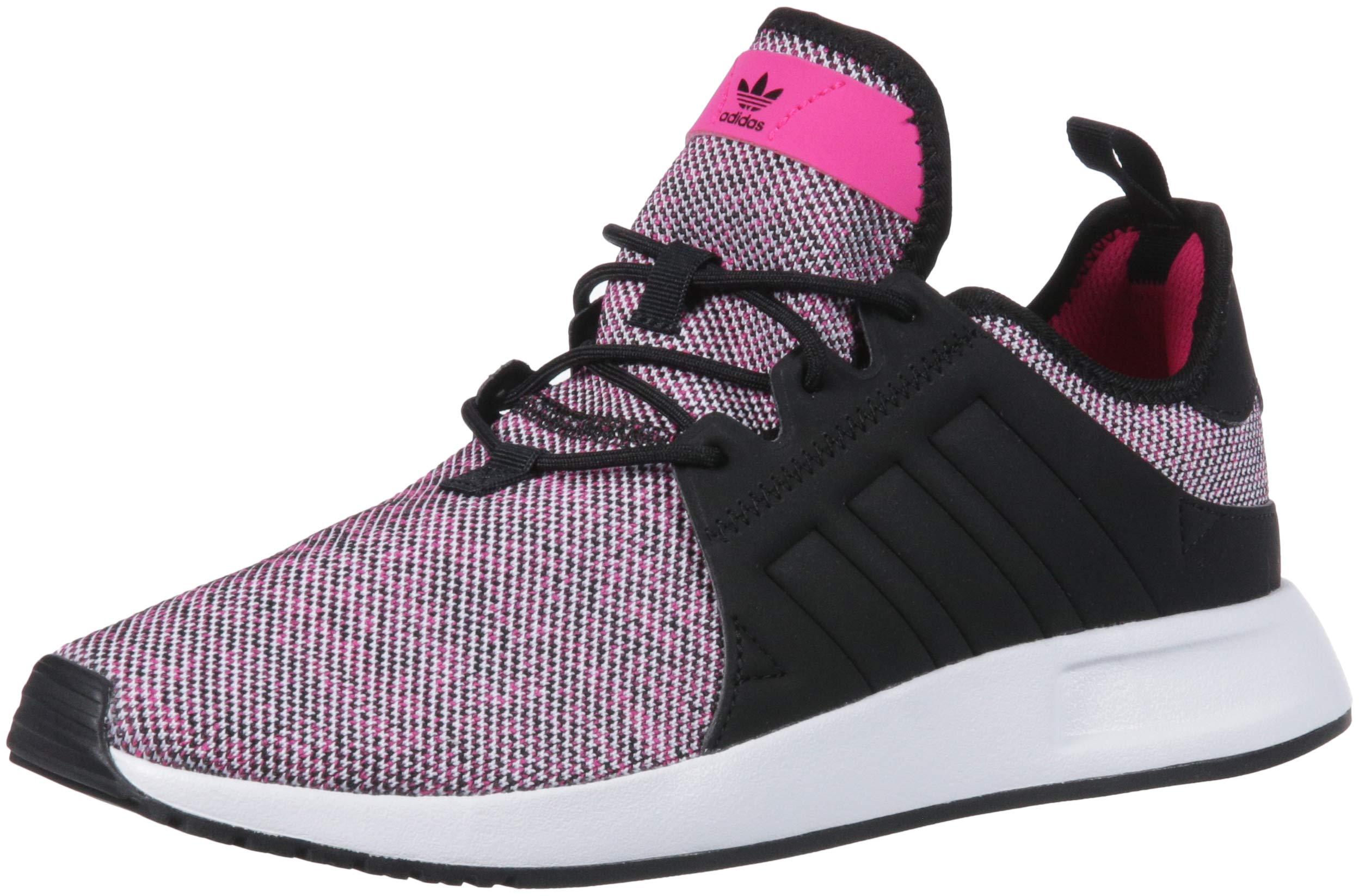 adidas Originals Unisex X_PLR Running Shoe, Shock Pink/Black/White, 3.5 M US Big Kid