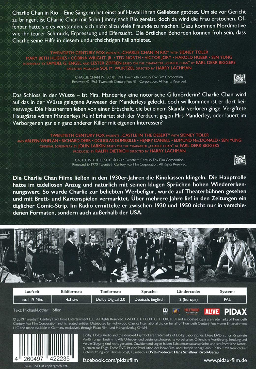Charlie Chan Collection Vol 5 Alemania Dvd Amazones