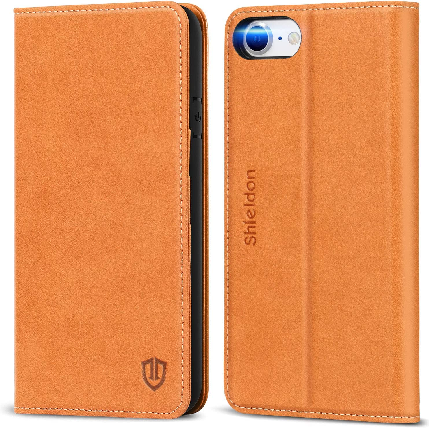 Flip Cover fit for iPhone 7 Plus business gifts Simple-Style Leather Case for iPhone 7 Plus
