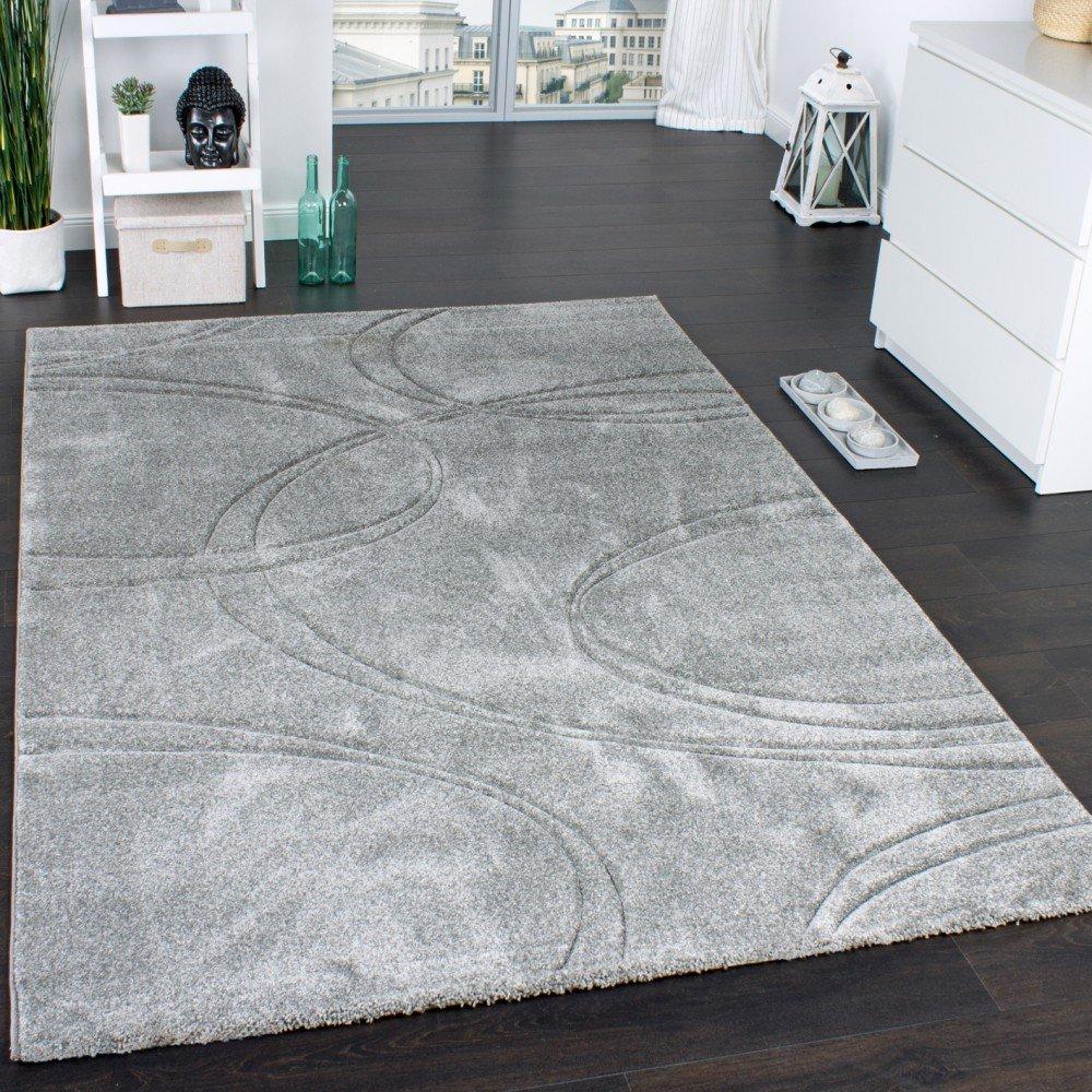 Paco Home Handgearbeitetem Teppich Einfarbig Designerteppich Mit