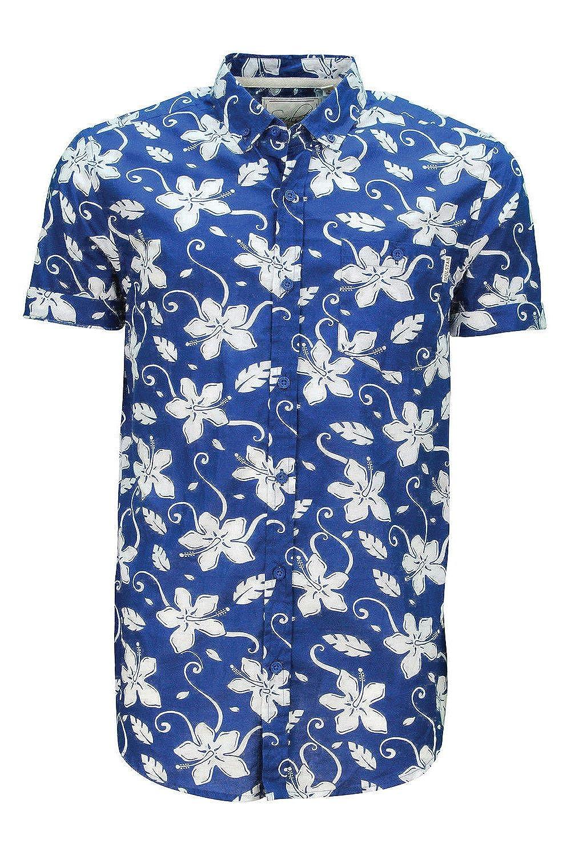 0cd8f7166ad SoulStar Men s Tiki All Floral Print Short Sleeved Summer Shirt ...