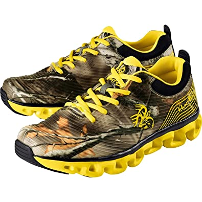 Yellow Camouflage Men's Ultra Lightweight Running Shoes