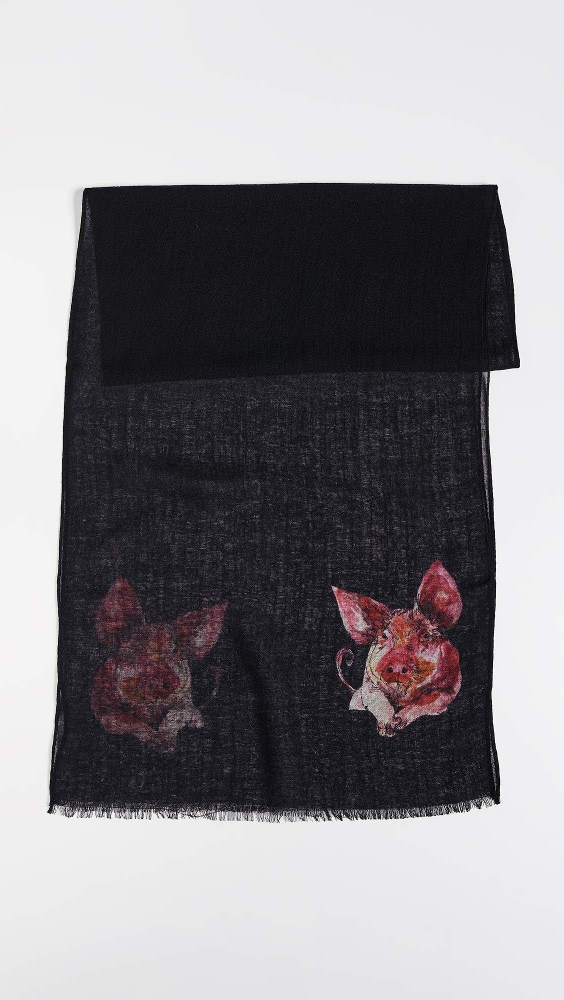 Paul Smith Men's Pig Scarf, Black, One Size by Paul Smith (Image #3)