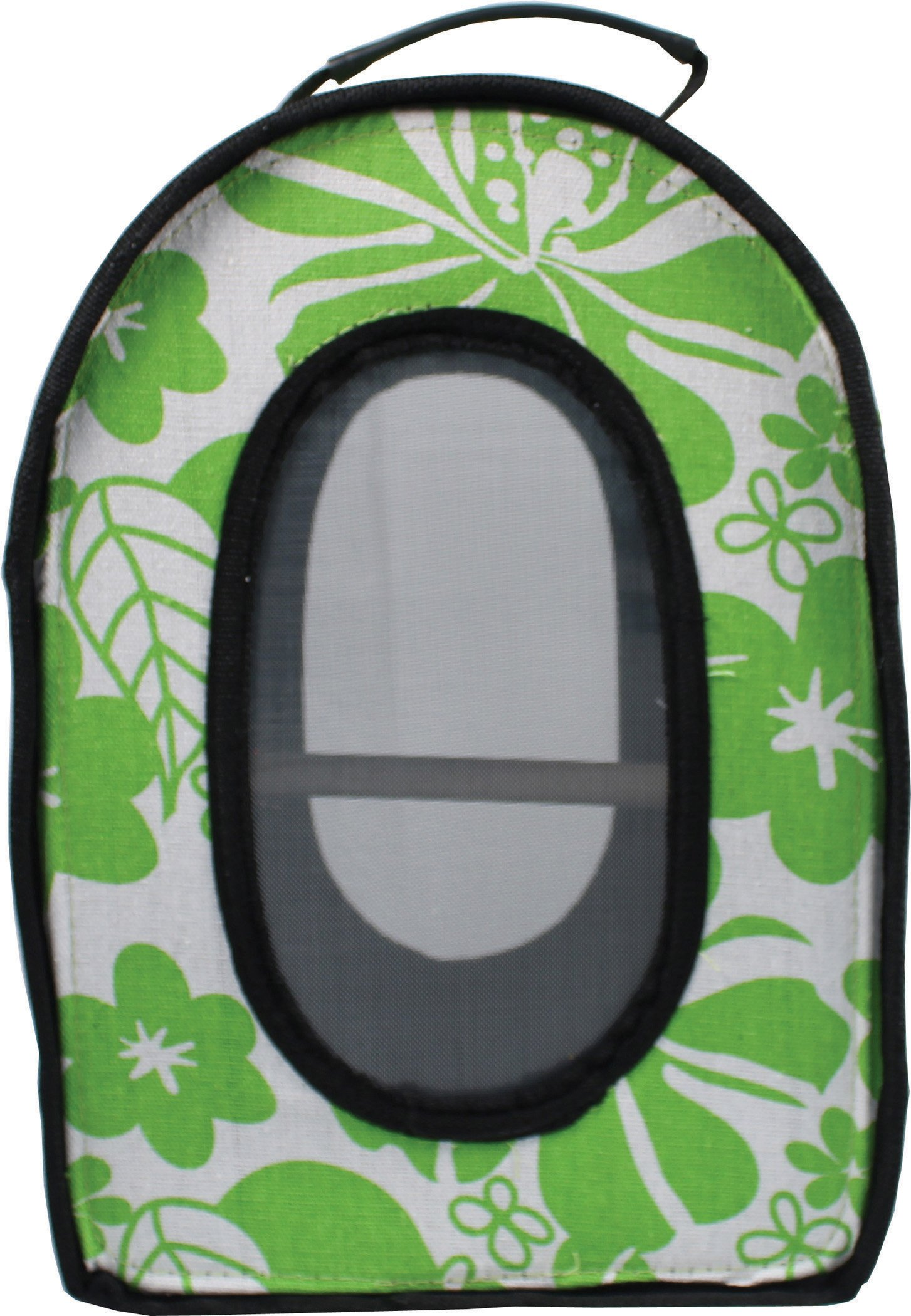 A&E CAGE COMPANY 001375 Green Happy Beaks Soft Sided Bird Travel Carrier, 13.5 x 9 x 18.5