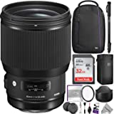 Sigma 85mm f/1.4 DG HSM Art Lens for CANON EF Cameras w/ Advanced Photo and Travel Bundle