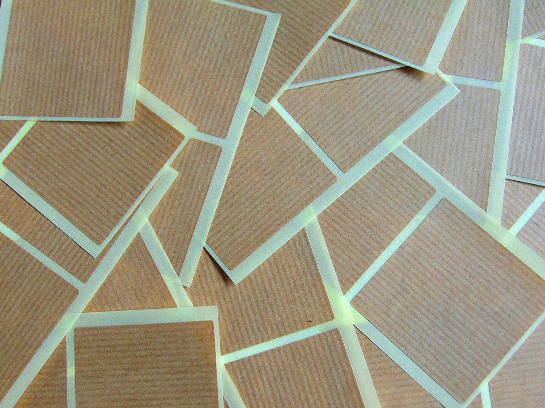 Code Couleur Autocollants Auto-Adh/ésif Collant Couleur Carr/és Marron Clair Kraft 51mm 2 Pouce Carr/é 50 /Étiquettes