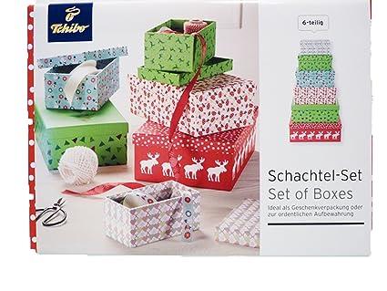 TCM Tchibo – Set de cajas del paquete Navidad Cajas Regalo Navidad