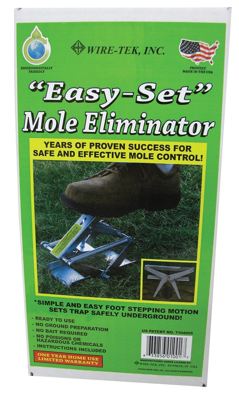 How to trap moles in your yard - Amazon Com Wire Tek 1001 Easyset Mole Eliminator Trap Rodent Traps Patio Lawn Garden