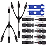 Ruikarhop MC4 Connectors Y Branch 1 to 3 Adapter Cable Wire Plug,MC4 Assembly Tool and 5 Pairs Male/Female Solar Panel…
