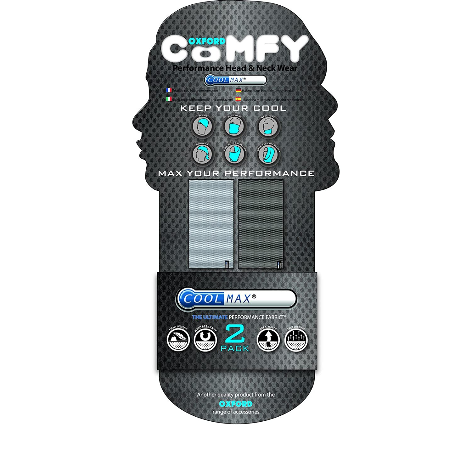 Oxford Comfy Coolmax Performance Head And Neck Wear