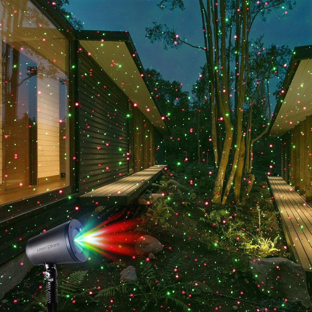 Amazon.com: LaserXplore Laser Christmas Lights, Red and Green Star ...