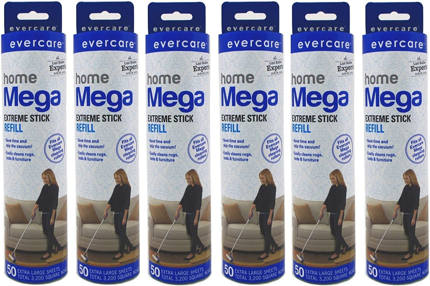 Evercare Mega Large Surface Roller Refill 50 Sheets