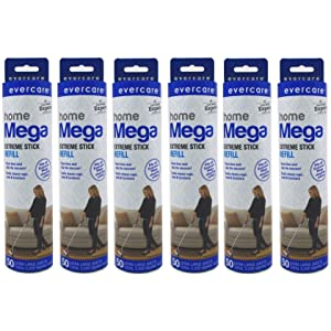 Evercare Large Surface Pet Roller Refill 6 Pack - 50 Sheet Each