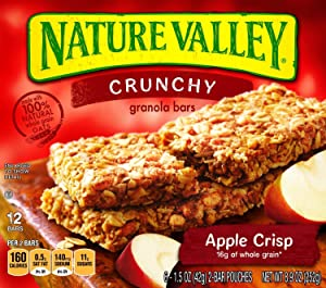 Nature Valley Apple Crisp Granola Bar 12 Bars 8.9 Oz (2 Pack)