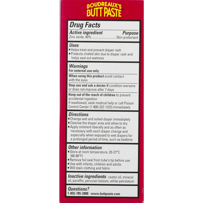 Boudreaux's Butt Paste Diaper Rash Ointment | Maximum Strength | 2 Ounce (Pack of 1) Tube | Paraben & Preservative Free