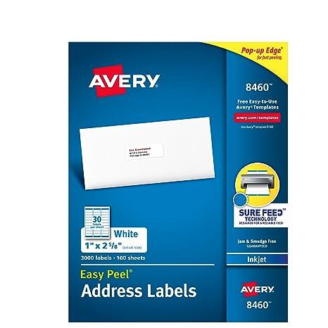 Amazon avery mailing address labels inkjet printers 3 000 avery mailing address labels inkjet printers 3000 labels 1 x 2 5 saigontimesfo