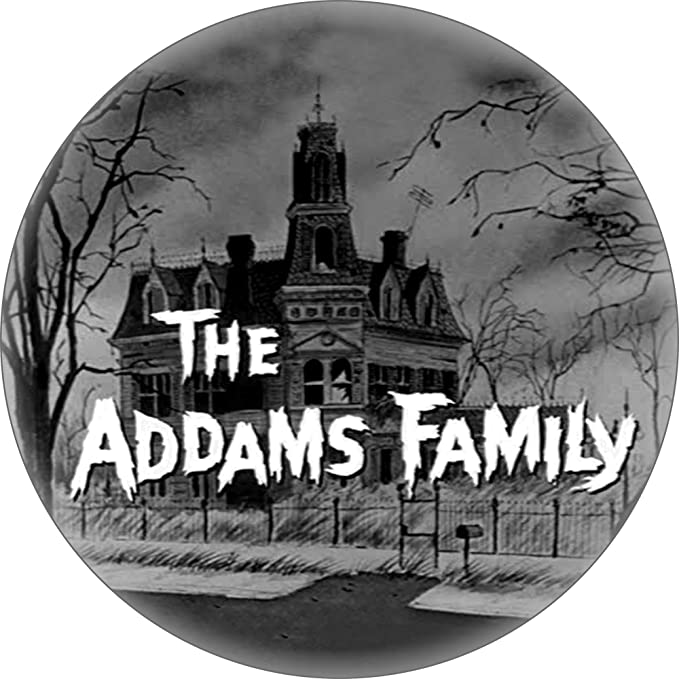 Buy The Addams Family House With Logo 1 25 Round Button At Amazon In