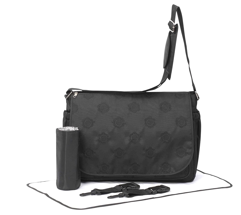 Primrose Hill Embroidered Messenger Style Baby Change Bag (Black) 490495U