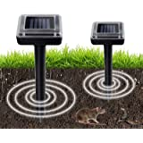 Aogist 2 Pack Animal Stopper Waterproof Solar Powered Spike for Outdoor Lawn Garden Yards