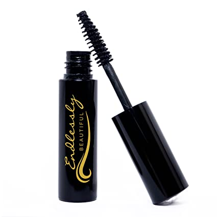 Natural Organic Mascara by Endlessly Beautiful, Black - Vegan & Gluten Free - Nourishes and
