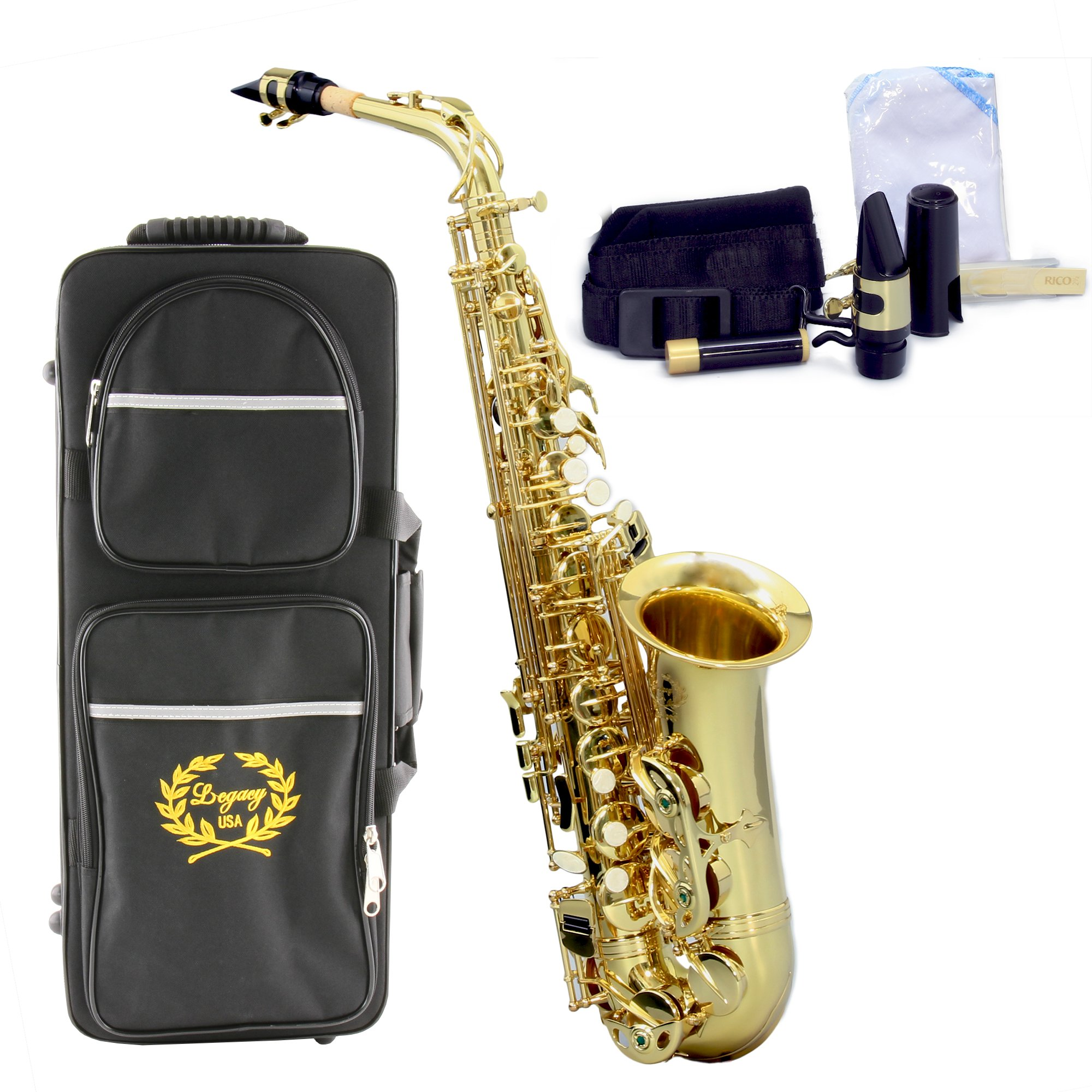 Legacy AS1000-II Intermediate Alto Saxophone with Case, Accessories and Mouthpiece