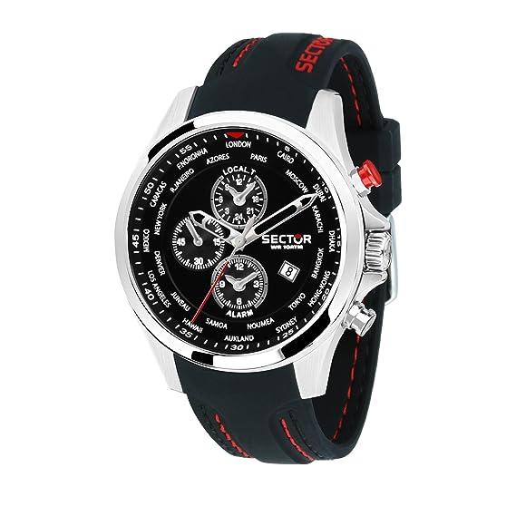 SECTOR Reloj Cronógrafo para Hombre de Cuarzo con Correa en Silicona R3251180022: Amazon.es: Relojes