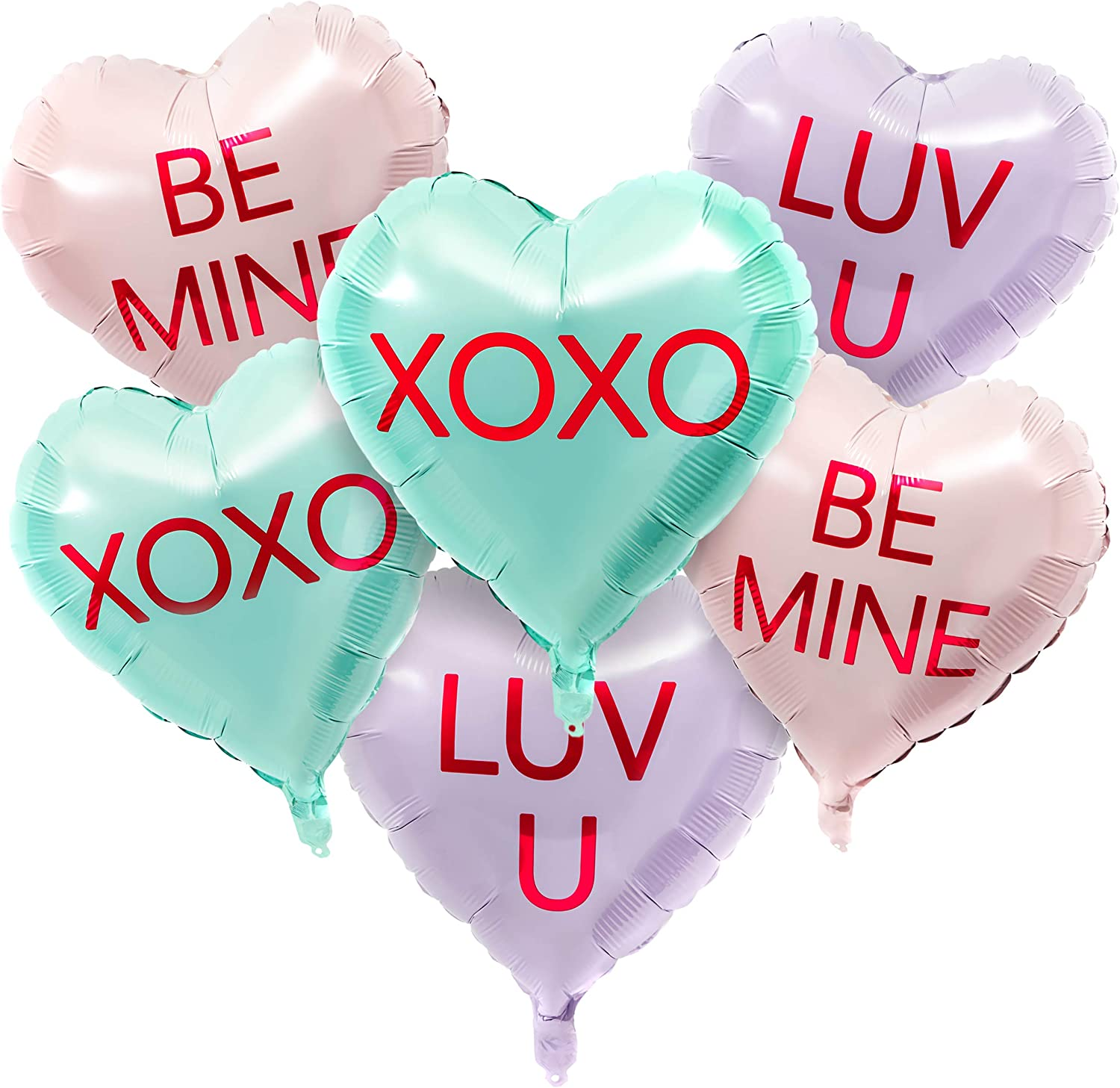 Conversation Candy Heart Balloons for Valentine's Day (12 Pack)
